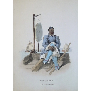*plate xxxv - a waterman in his barge