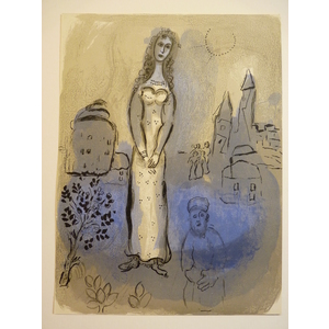 Chagall, Marc - Esther. Bible series Original Colour Lithograph Published by Mourlot in 1960 for ...