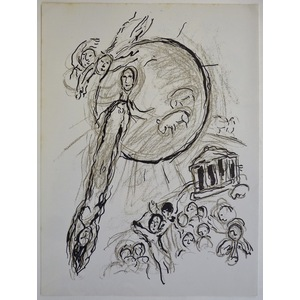 Sketch from le plafond de l opera de paris - chagall