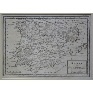 Spain and portugal - moll, 1714