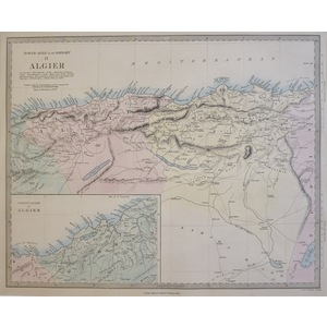 North Africa or Barbary, Sheet 2 - Algier - Original antique map. Engraved by J and C Walker. Pub...