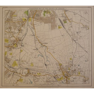 Stanfords map of the county of london - sheet 19 - beckenham, lower sydenham, bromley
