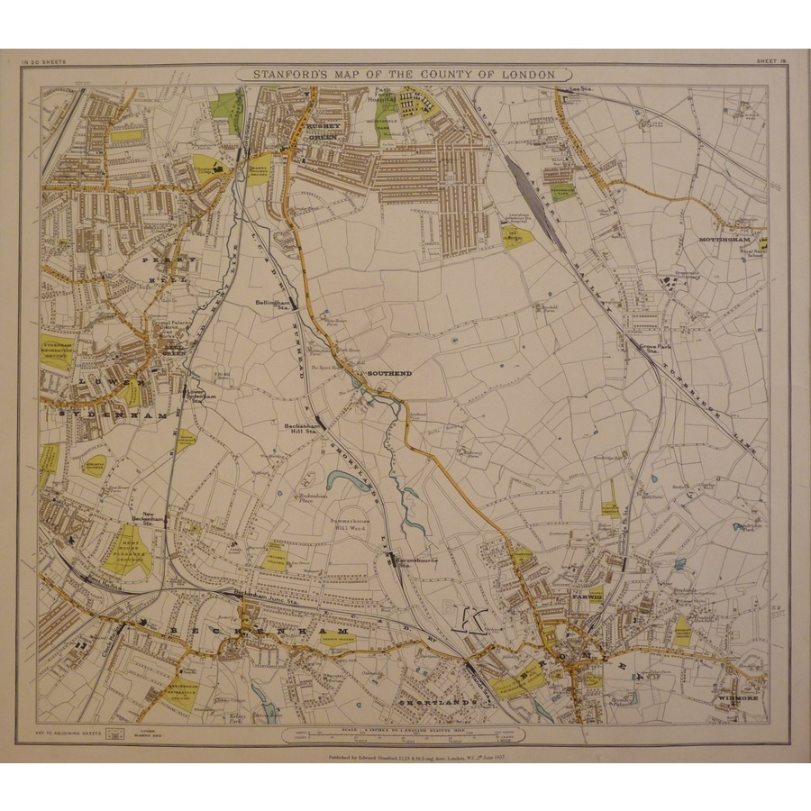 Stanfords map of the county o. | Storey's