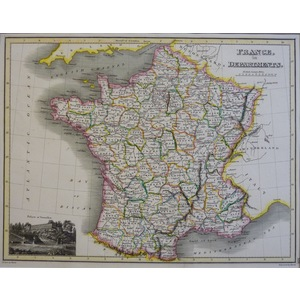France in Departments - J. Wyld, 1827