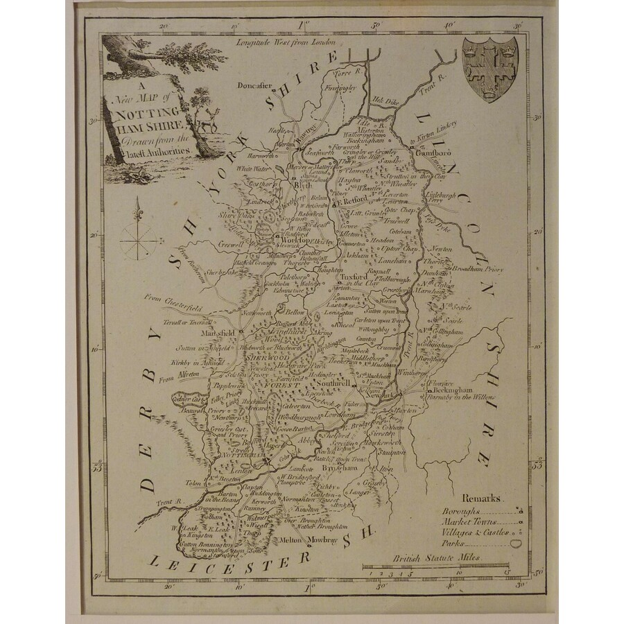A new map of nottinghamshire | Storey's