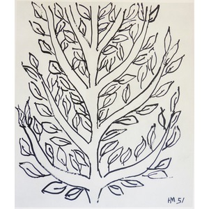 Matisse , Henri - Tree Study (2). Original heliogravure published in 1958 by Teriade for Verve Ma...