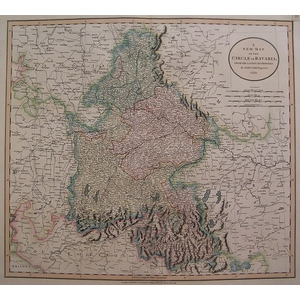 A new map of the circle of bavaria - cary 1806