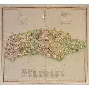 A new map of sussex - s. Smith, 1804
