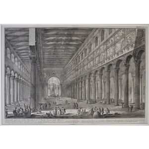 Cross-Section of the Interior of the Basilica of San Paolo outside the walls