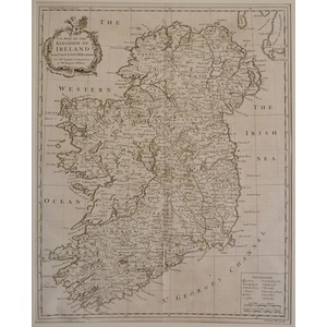 A map of the kingdom of ireland