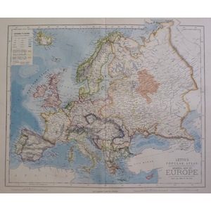 Europe, general map - letts, 1885
