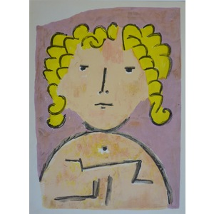Klee , Paul - Blonde. Original lithograph published in 1958 by Teriade for Verve Magazine