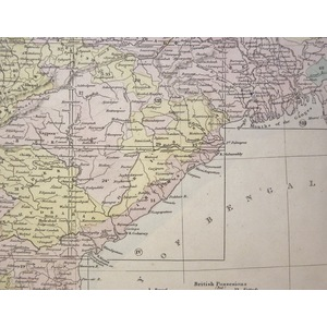 India XIII - Original hand coloured antique map. Engraved by J and C Walker. Published by SDUK, 1...