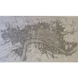 A New and Correct Plan of London, Westminster and Southwark with the New Buildings to the Year 17...