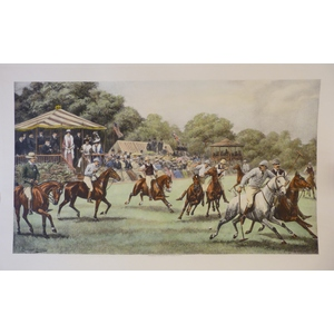 Polo. Hancoloured copper engraving after Cuthbert Bradley. Reissued from the original plate. Engr...