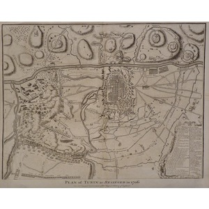 Plan of turin as besieged in 1706