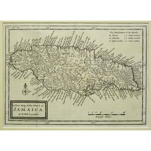 A new map of the island of jamaica - moll, 1717