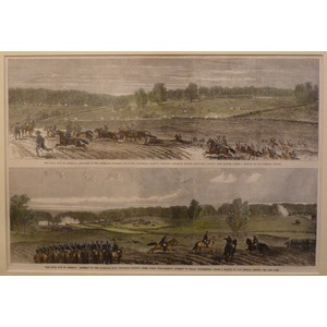 Advance and retreat of the federals, lee town, jefferson county after their unsuccessful attempt ...