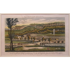 View of chatsworth-house in the county of derby, the seat of his grace the duke of devonshire