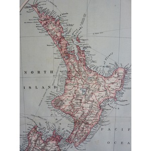 New zealand: general map, and tasmania - 1906