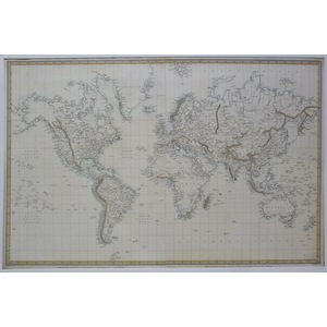 The world on mercators projection - 1841