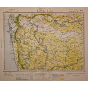 India - bombay, west coast - sheet 3, letts 1885
