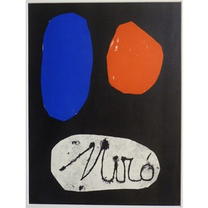 Untitled - Cover for Derriere le Miroir, No.57.  By Joan Miro. Printed by Mourlot. Published 1953