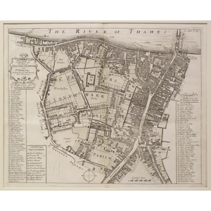 A map of the Parishes of St. Saviours Southwark and St. George's