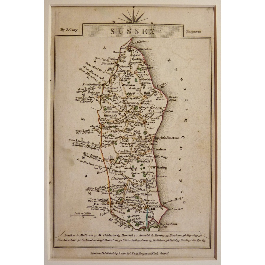 Sussex - cary, 1792 | Storey's