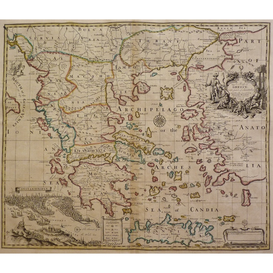 A map of greece with part of . | Storey's