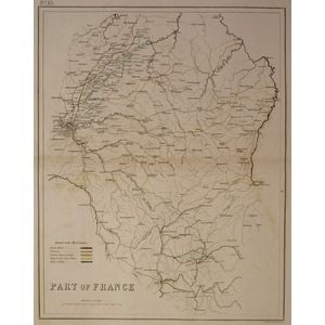 Part of france - advance of the allied armies, waterloo