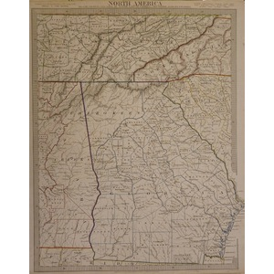 North america - sheet xii - georgia with parts of north & south carolina, tennessee, alabama & fl...