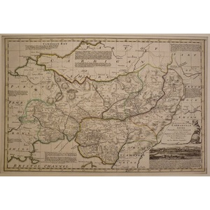 An accurate map of carmarthenshire - bowen, 1780