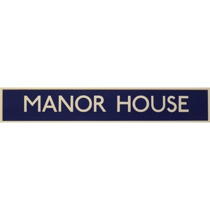 London underground station signs - manor house