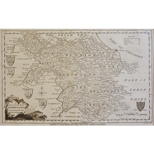 A New and Correct Map of North Wales - Original antique map, published 1780