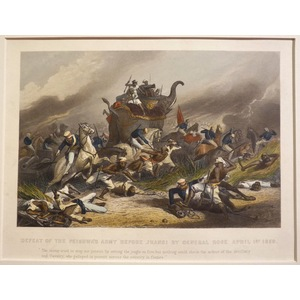 Defeat of the peishwas army before jhansi by general rose april 1st 1858