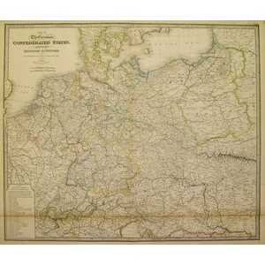 Map of the germanic confderated states including the kindom of prussia