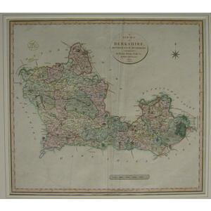 A new map of berkshire - j. Cary 1801