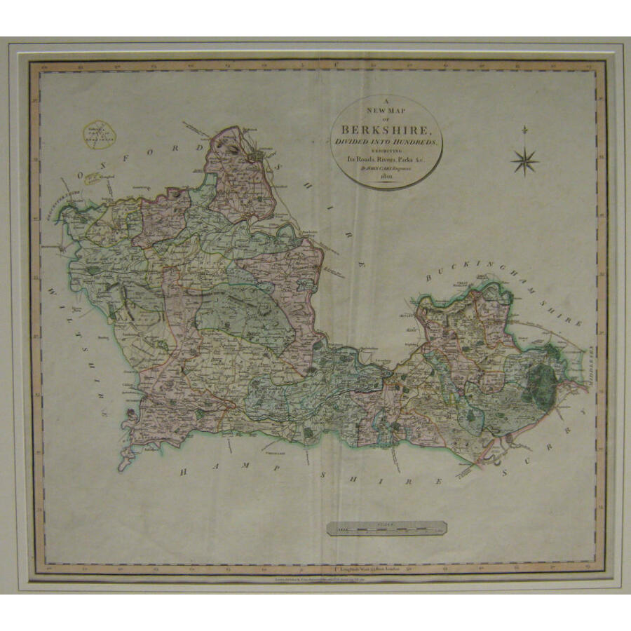 A new map of berkshire - j. C.   Storey's