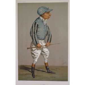 Jockey;  Otto Madden ; Original antique lithograph, published for Vanity fair, 1900
