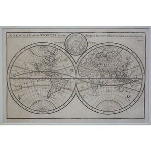 A new map of the world according to the new observations - moll, 1711