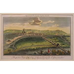 Perspective view of the city of gloucestershire