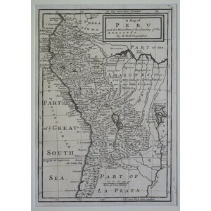 A map of peru and the west part of the country of the amazones