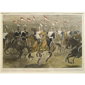 The military tournament at the agricultural hall: a double double musical ride by the 17th lancer...