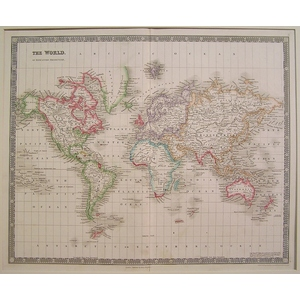 The world on mercators projection - h. Teesdale, 1842