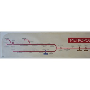 Metropolitan Line, with East London Section - Original London Underground Carriage Map