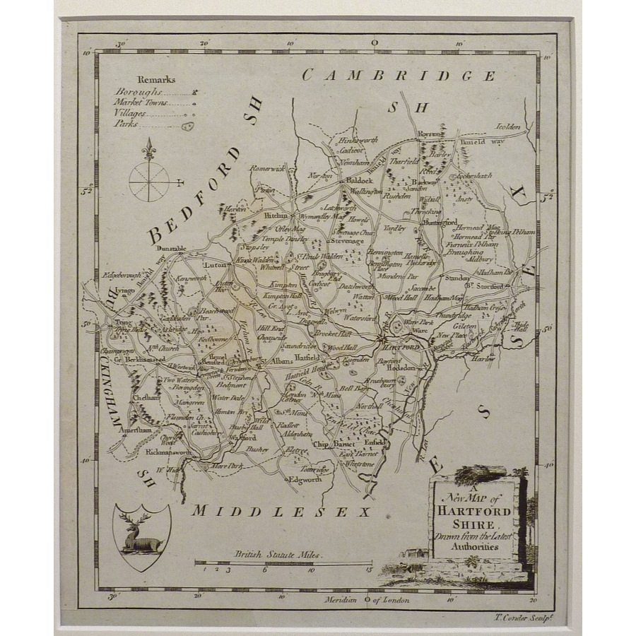 A new map of hartfordshire | Storey's