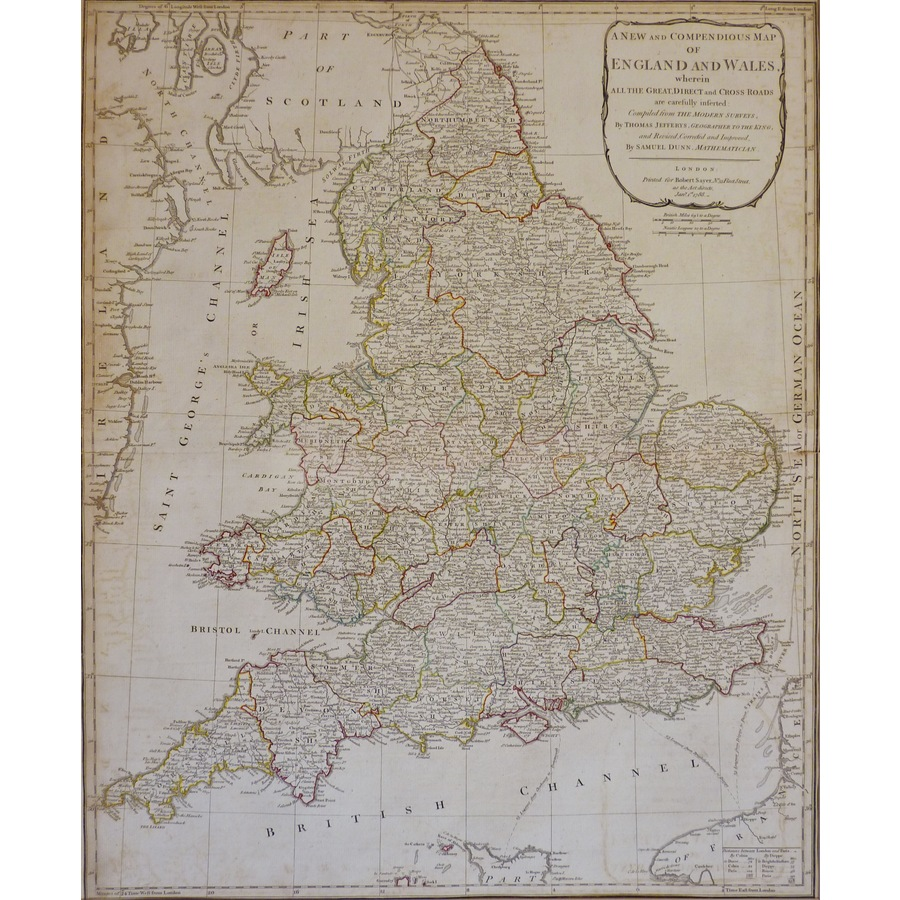 A New and Compendious Map of . | Storey's