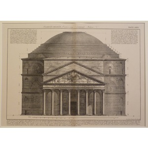 View showing the present condition of the pantheon. Piranesi