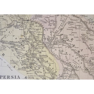 Persia with Part of the Ottoman Empire by G. Long M.A. 1831 - Original hand coloured antique map....